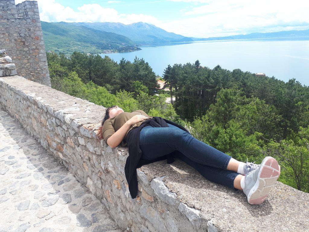 Çar Samuel Kalesi ve Ohrid Gölü Manzarası Kuzey Makedonya