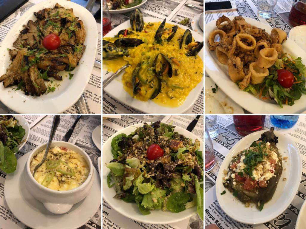 Selanik'te Akşam Yemeği - Tou Meze'de Akşam Yemeği  Selanik Yeme İçme Yunanistan