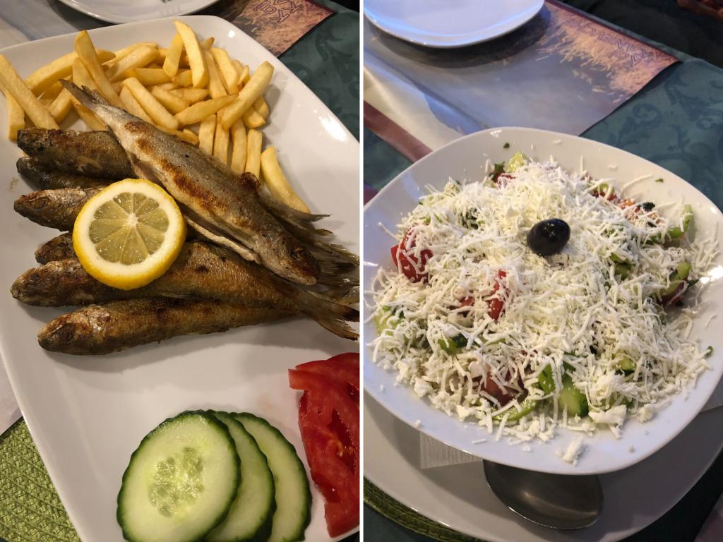Ohrid'de Akşam Yemeği Kaneviçe Restoran